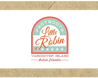 Custom Logo Design - PreDesigned Logo - PreMade Logo - Vector Logo - OOAK Logo - LITTLE ROBIN Logo Design - Vintage Logo Design - Retro Logo