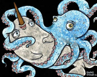 Narwhal Octopus love