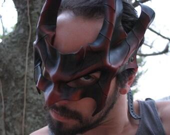 Earth Dragon Oni Leather Mask
