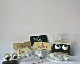 Assorted Eyes for Altered Art Doll Mking and Repair
