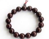 12mm Tibetan Black Bodhi Pu-Ti Root Prayer Beads Buddhist Wrist Mala Bracelet For Meditation T1781