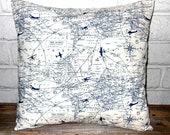 The Aviator II - Pillow Cover in Premier Prints Air Traffic Navy and Cream