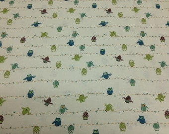Falling Owls - Fabric - Cotton