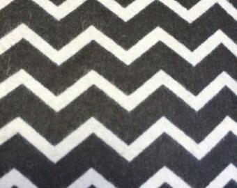 Black amd White Chevron - Flannel - 1 yard