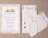 Charleston Skyline Wedding Invitation