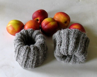 Knit Boot Cuffs Leg Warmer Oatmeal