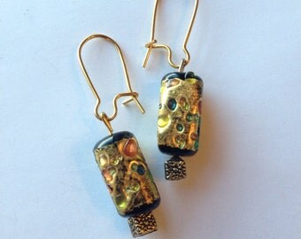 Colorful Raindrop Glass Earrings