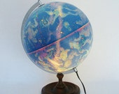 "Vintage 12"" Illuminated Celestial Globe Made in Denmark - Stunning - TREASURY PICK"
