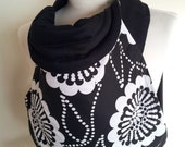 MEI TAI Baby Carrier / Sling / Reversible / Sunflower with Black in straight cut model