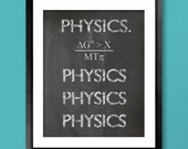 Doctor Who Inspired Physics Poster - 8x10