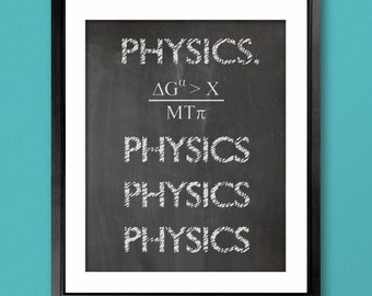 10th Doctor Inspired Physics Poster - 8x10