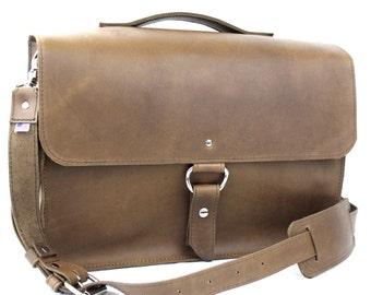 "14"" Brown Newtown Midtown Laptop Bag"
