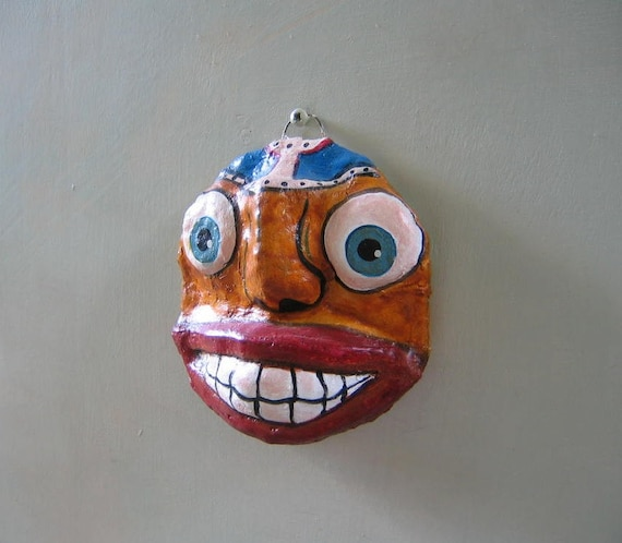 Mini Mask 4, Original Wall Art by Fig Jam Studio