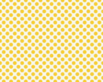 Lori Whitlock For Riley Blake - HELLO SUNSHINE - Dots in Yellow - Cotton Fabric - 1 Yard