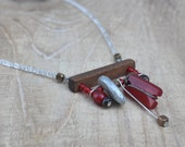 Red Inukshuk necklace,Red...