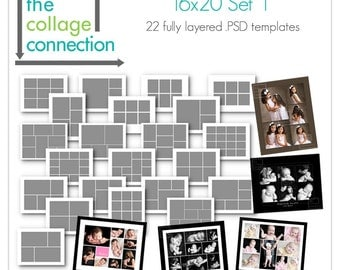 Photoshop 16x20 Collage Templates | Set 1