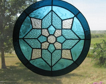 Teal Kaleidoscope Suncatcher