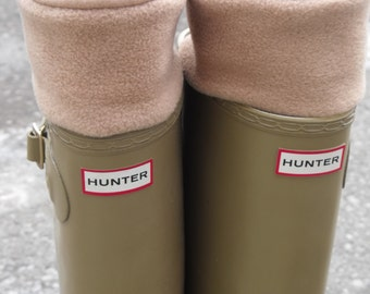 Fleece Rain Boot Liners, Camel Liners will look fabulous paired with your rain boot, British Wellies Liners, Rainy (SM/MED 6-8 boot)