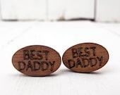 Engraved Best Daddy Cufflinks
