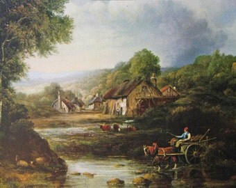 Fording the Stream Frederick Watts Calendar Art Print