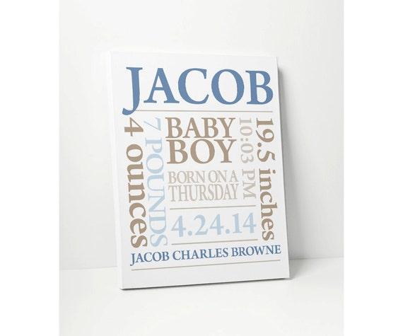 leinwand drucken baby boy geschenk personalisiert. Black Bedroom Furniture Sets. Home Design Ideas