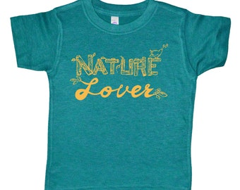 Nature Lover Kids T Shirt - Childrens Clothing - Boys Clothing - Girls Clothing - Baby & Toddler Kids Clothes - Tops - American Apparel