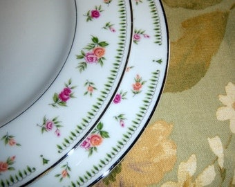 "Vintage Abingdon Dinner Plate Set Three  Pink Rose 10-1/4"" Made in Japan 3 Place Online Vintage, vintage clothing, home accents china"