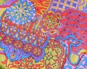 Bright Paisley & Floral  Round Tablecloth, Cutter 1970s