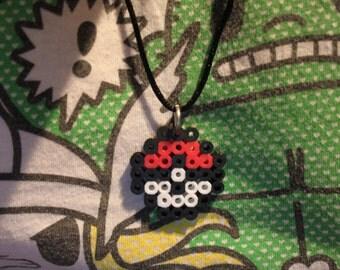 Necklace: Pokémon Pokéball Single Pendant Charm Necklace, custom length.