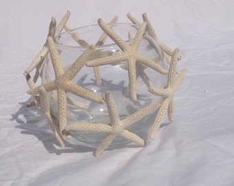 Pencil starfish candle holder