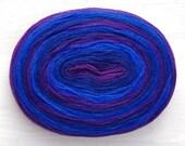 Thin Wool Pencil Roving, Pre-Yarn, Spinning, Felting or Knitting Fiber,  Navy Blue, Purple