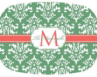 Personalized Platter, Monogrammed Platter, Personalized Melamine Platter, Hostess Gift, Bridal Shower / Engagement Gift