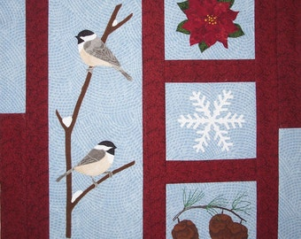 KIT: Winter Harmony Wall Hanging Quilt Pattern and KIT
