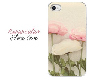 Floral iPhone Case, Ranunculus iPhone Case, Floral iPhone Case, Pink Flower iPhone 5 Case, Pretty iPhone Case, Gift For Her