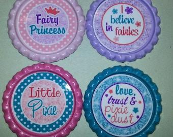 Fairy Sentiment bottle Caps