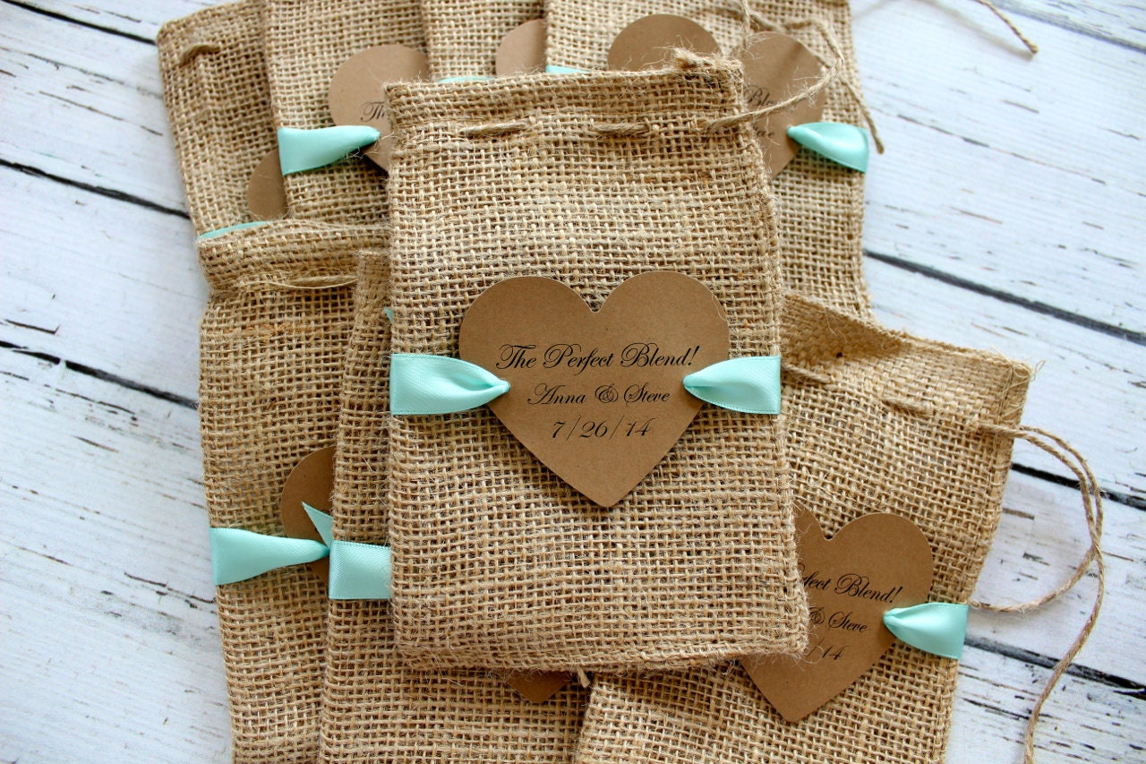 Burlap Favor Bags Ribbon Or Jute By Jacquelynvaccaro On Etsy