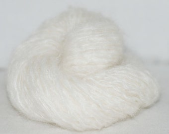 Off White Mohair Recycled Yarn, 131 yards, Bulky Weight