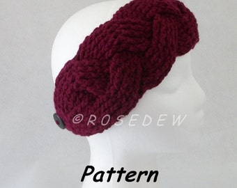 Instant Download to PDF Crochet PATTERN: New Plaited Headband