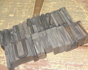 Very OLD 1920s Wood Letterpress Blocks, U PICK 1: c, d,  p, r,  t, u, v, w, y, z, or period, Historical stamping initial, art IDEAS