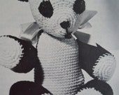 Vintage Cute Sweet Crochet Panda and Bunny Rabbit Childrens Doll Stuffed Animal Patterns
