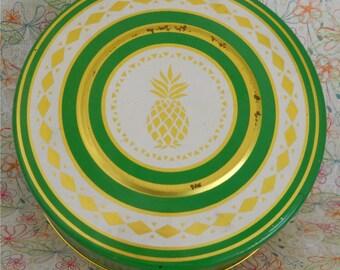 Pineapple Motif Tin