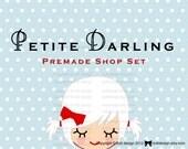 Petite Darling- Premade Etsy Shop Banner set