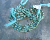 Peruvian Blue Opal Faceted Rondelles 1/2 strand