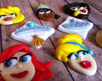 EDIBLE (Fondant Toppers) - Princess Inspired