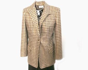 Fabulous Vintage 70s CACHE Metallic Jacket  Size 8