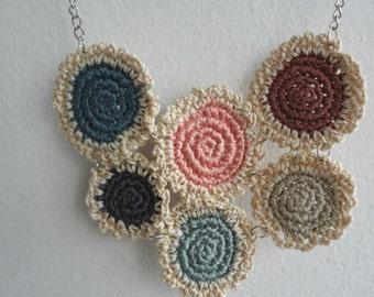 The Mini Doilies Necklace no.8 - Simply Crochet Featured - Mini Crochet Collection, mini crocheted necklace, tiny crocheted doilies
