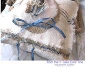 Flour and Feed Sacks made into ring-bearer's pillow for children (as sash) or pets(as girth strap)