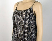 Charlotte Russe Geometric African Design Blouse