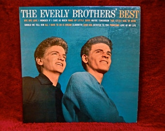 The EVERLY BROTHERS -  The Everly Brother's Best - 1959 Vintage Vinyl Record Album