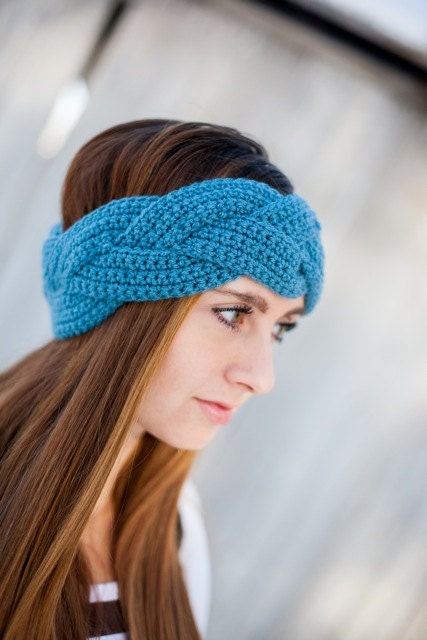 Braided Crochet Earwarmer Braided Crochet Headband Custom